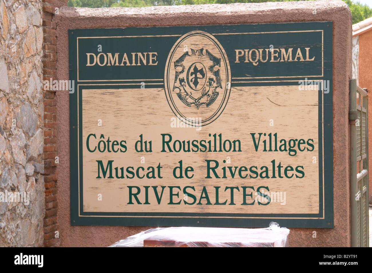Domaine Piquemal, espira de l'Agly, Roussillon, France Banque D'Images