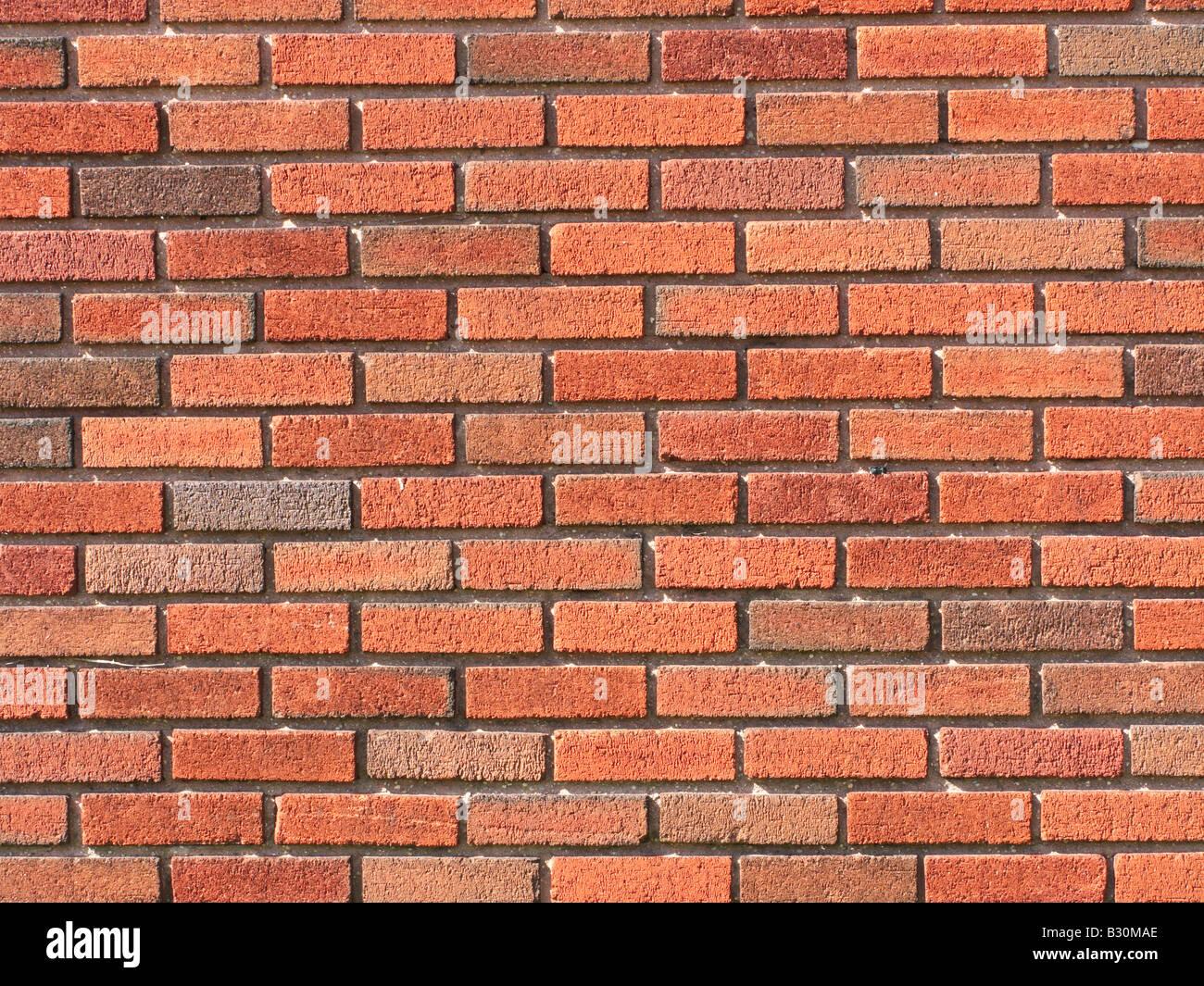 Mur de brique rouge brique d'arrière-plan Banque D'Images