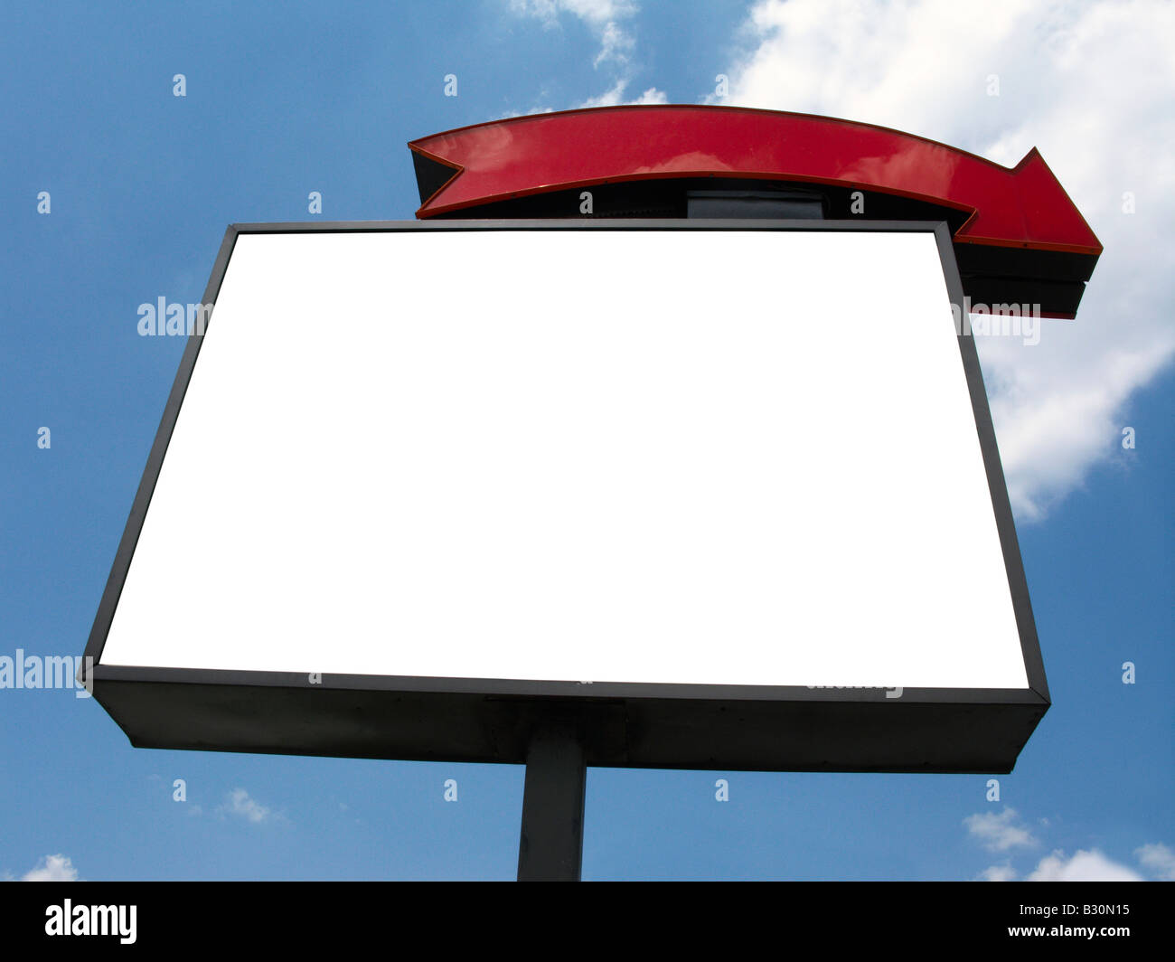 Blank sign publicité sky Photo Stock