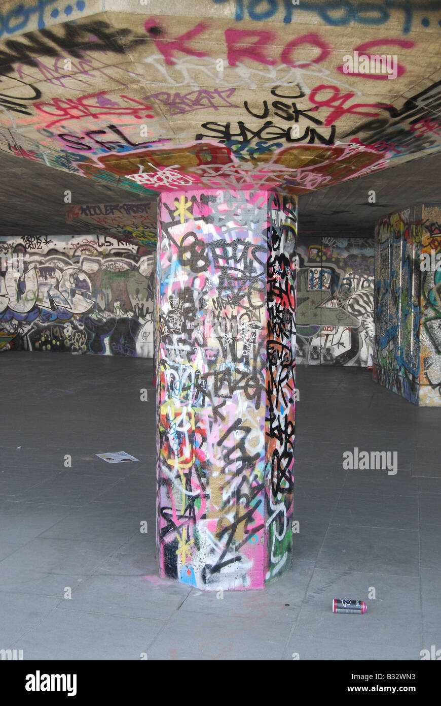 Spraycan graffiti art art urbain Photo Stock