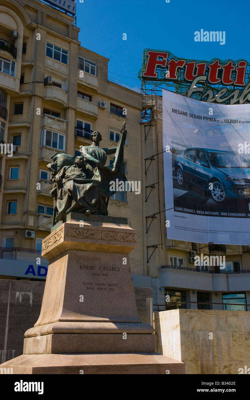 Statue de Barbu Catargi à Piata Unirii Bucarest en Roumanie Europe Photo Stock