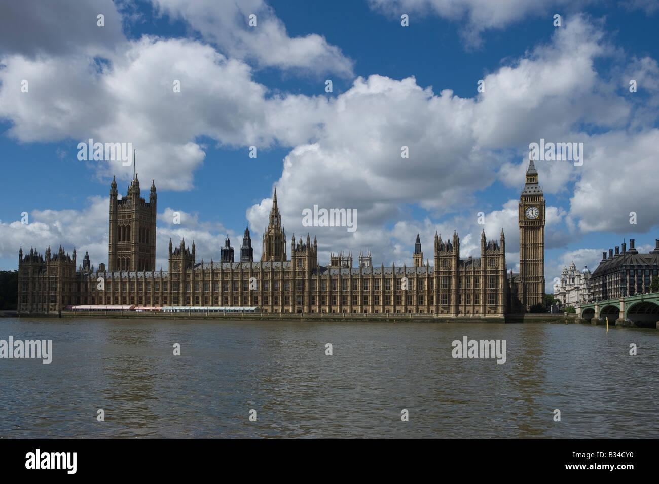 Big Ben le Parlement de la rivière Thames, London England UK Photo Stock