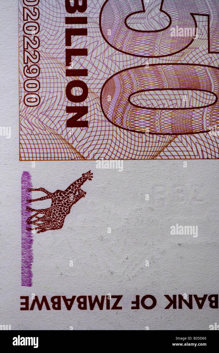 """Zimbabwe cinquante milliards de dollar note' Photo Stock"