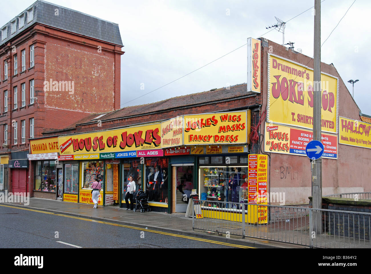 Une grande boutique de farces à Blackpool, England, UK Photo Stock
