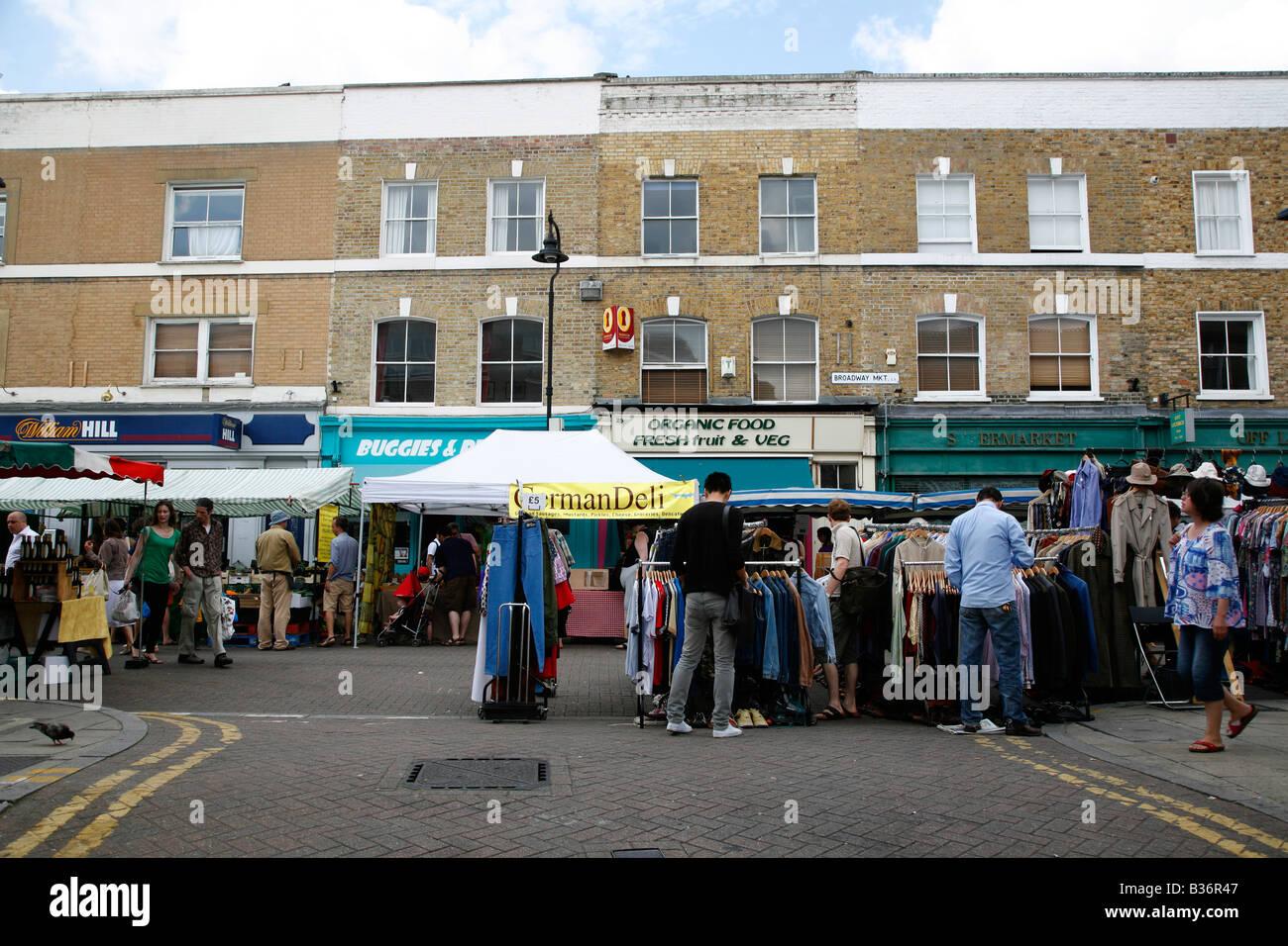 Marché de Broadway à Hackney, Londres Photo Stock