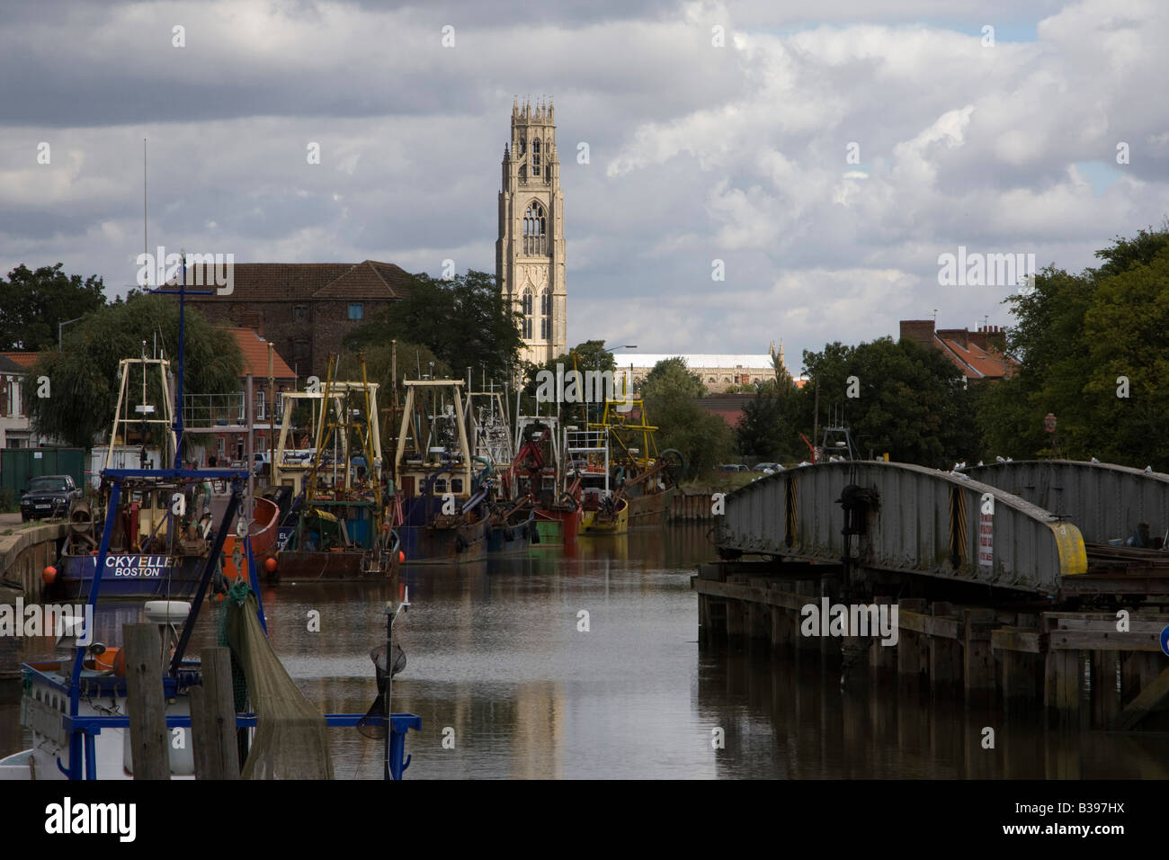Le Haven boston lincolnshire angleterre bateaux riverside Photo Stock