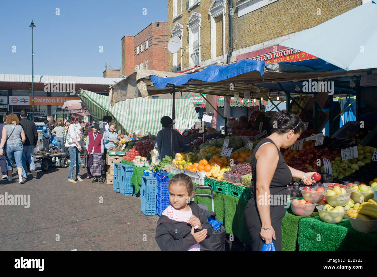 Ridley Road market Londres Hackney, Dalston Photo Stock