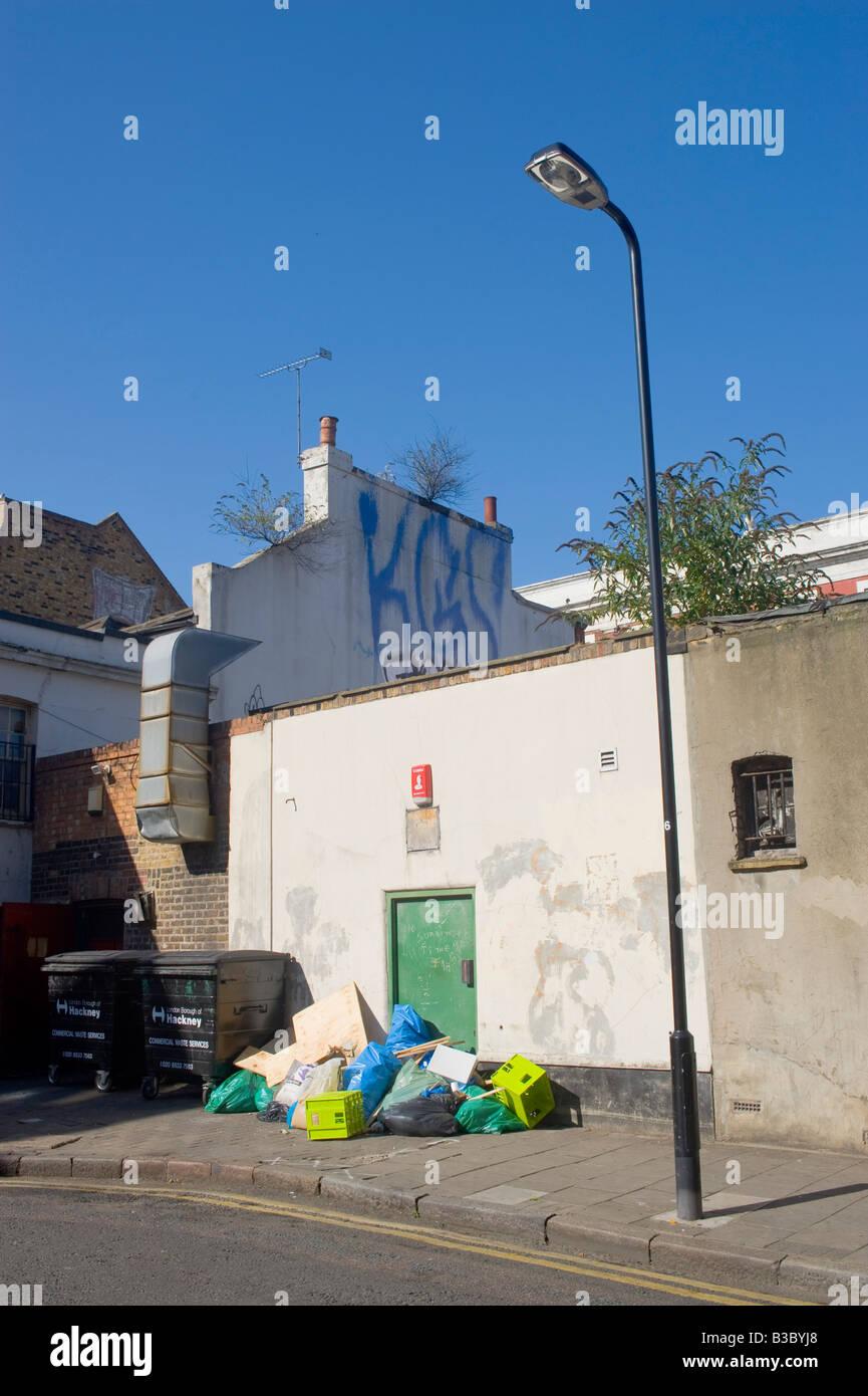 Un coin de rue de Londres Hackney, Dalston Photo Stock