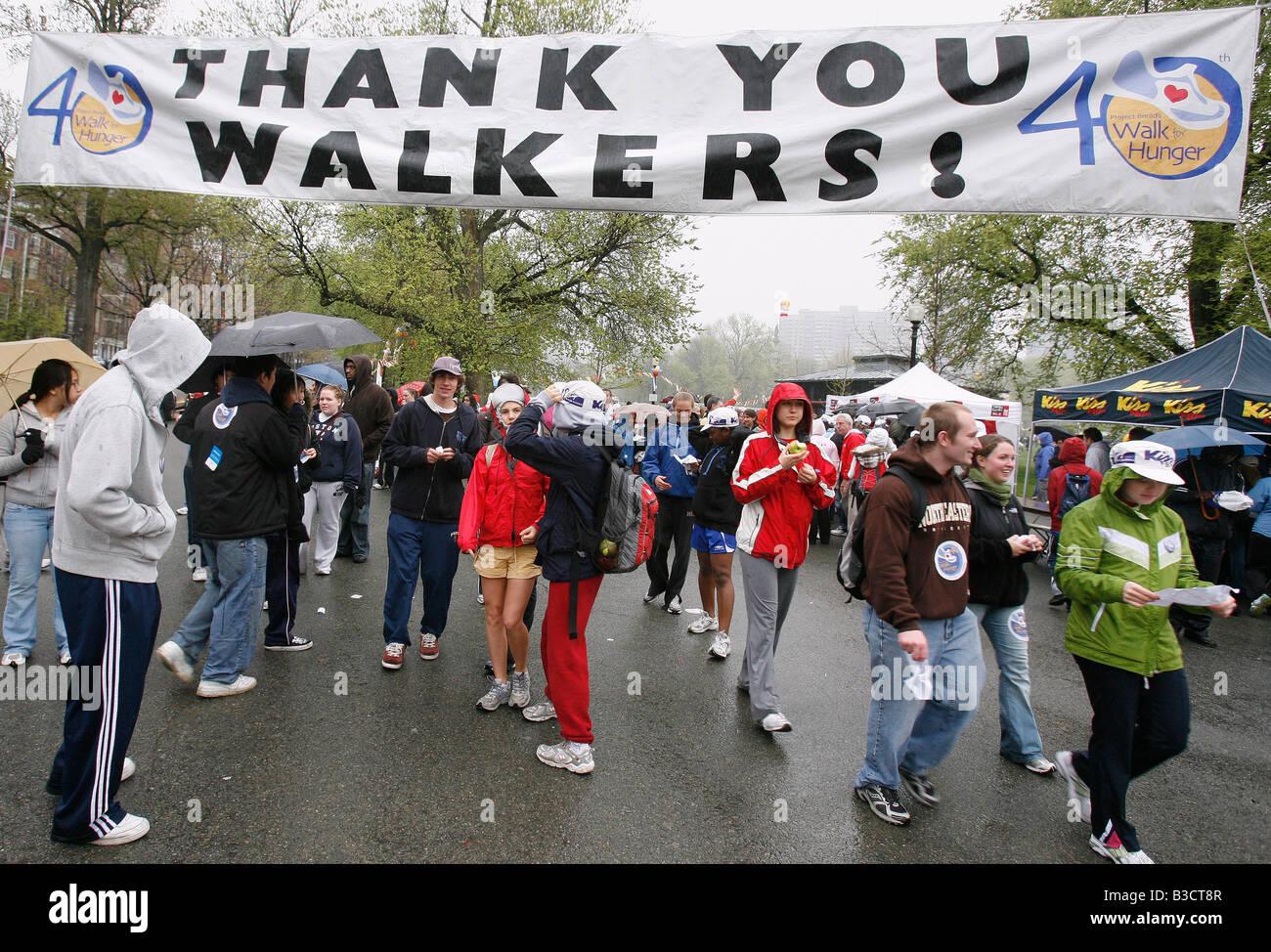La charité marche pour la faim Boston Massachusetts Photo Stock