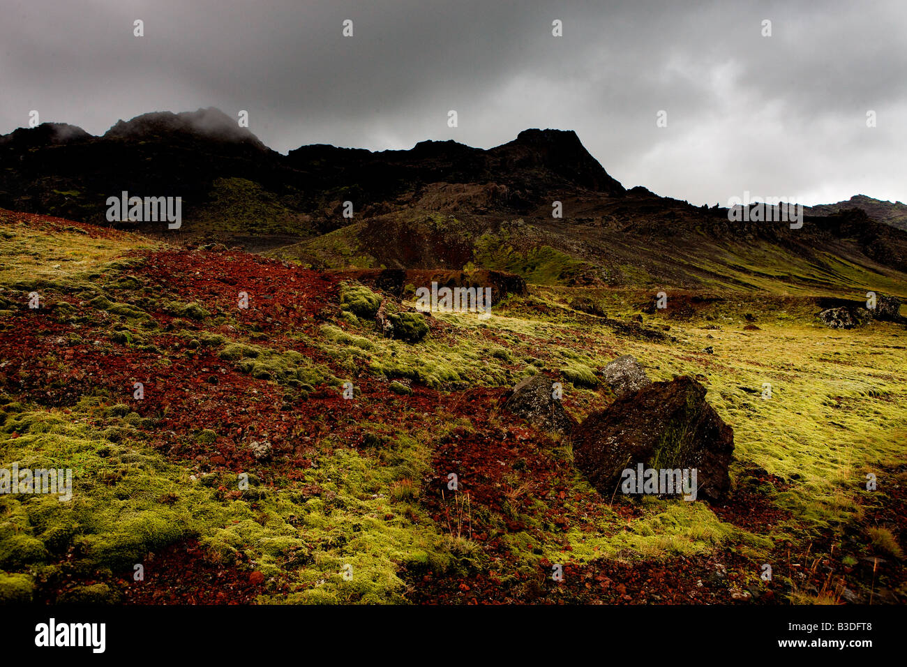 Péninsule de Krisuvik paysage Islande Photo Stock