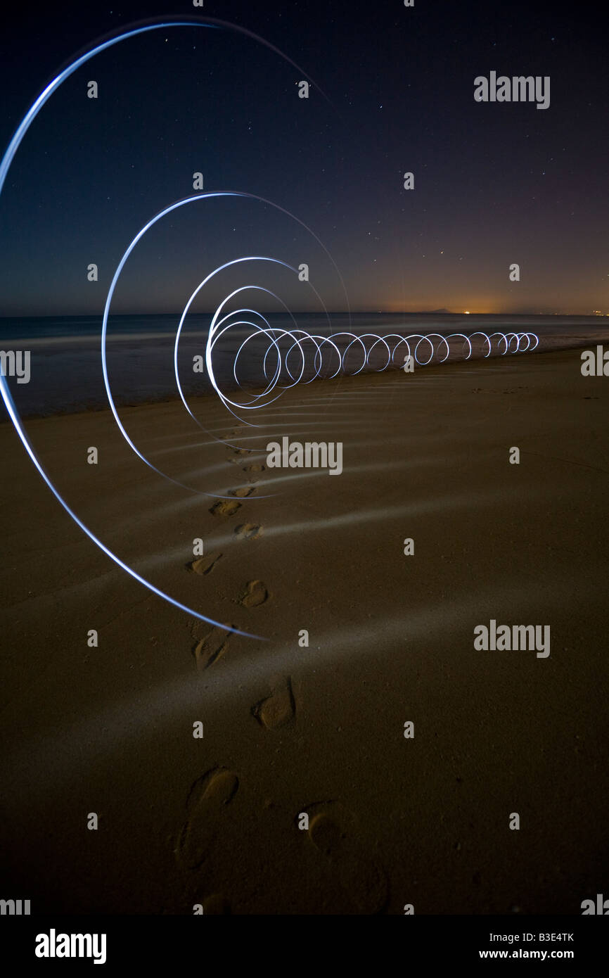 Effets d'éclairage sur la plage d'Hossegor (Landes - France). Jeux de lumières sur la plage d'Hossegor (Landes - France). Banque D'Images