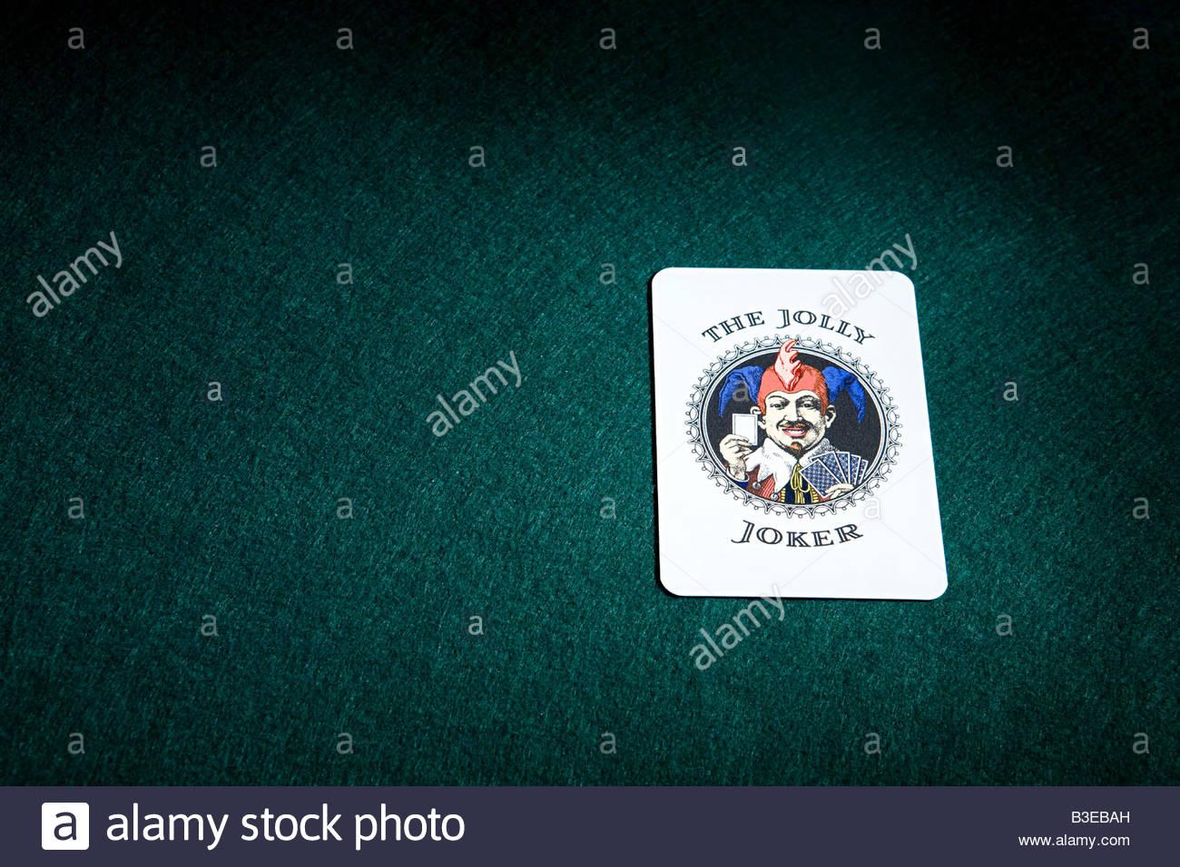 Un joker jeu de carte Photo Stock