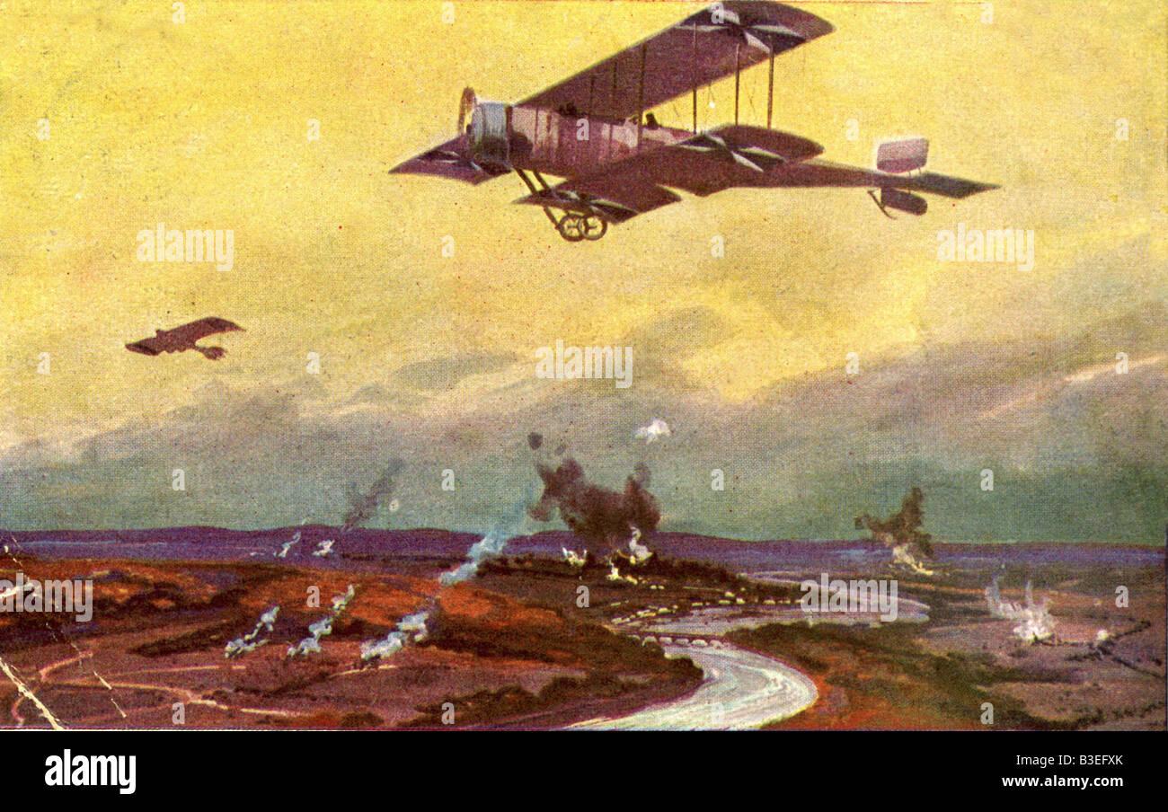 Événements, première Guerre mondiale / première Guerre mondiale, guerre aérienne, France, avion allemand sur un Banque D'Images