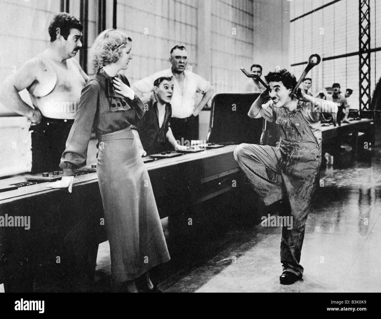 df1c5a30262e69 Les temps modernes 1936 film muet de Charlie Chaplin Banque D Images ...