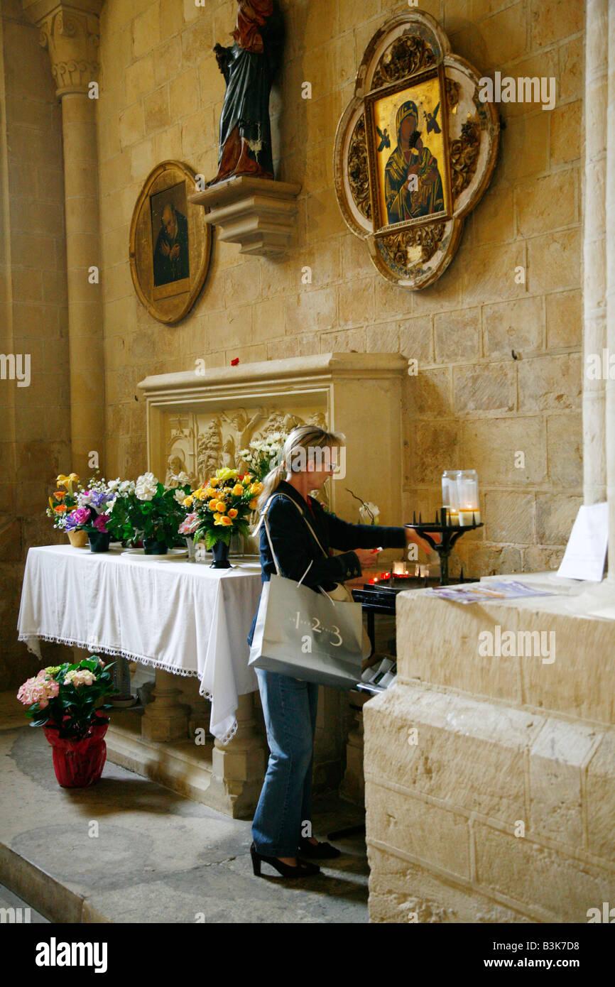 Juillet 2008 - Abbaye aux Dames Caen Normandie France Photo Stock