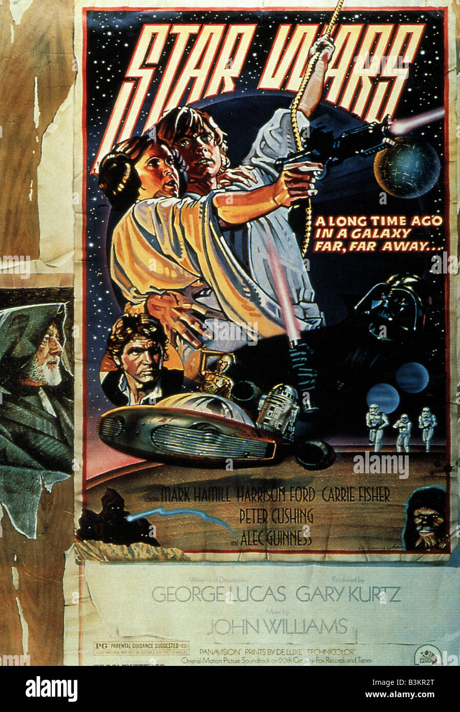 STAR WARS Episode 1 - LA MENACE FANTÔME Affiche pour 1999 film TCF Photo Stock