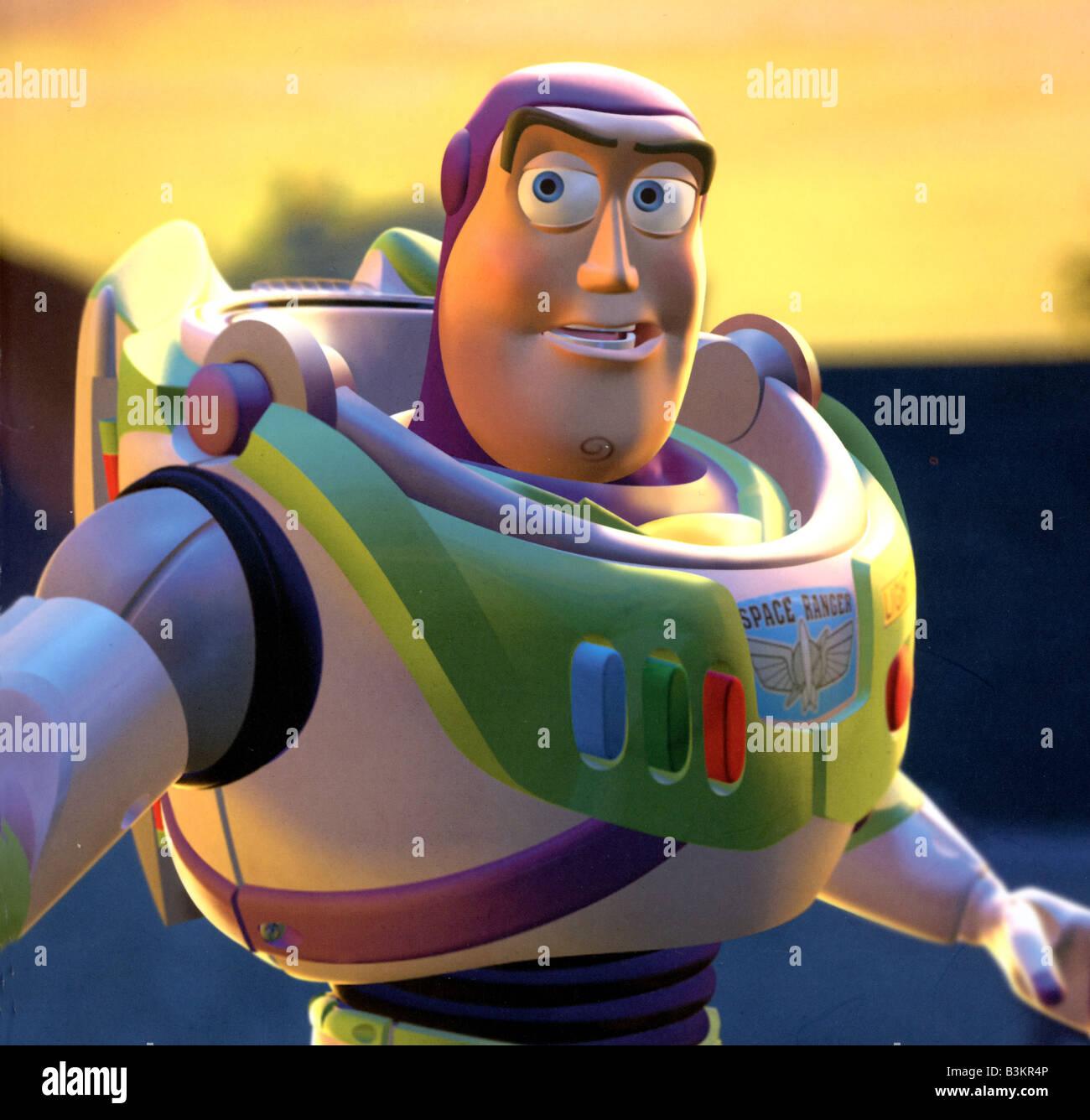 TOY STORY 1995 Buena Vista Walt Disney film avec Buzz Lightyear Photo Stock 4a2f589e50c