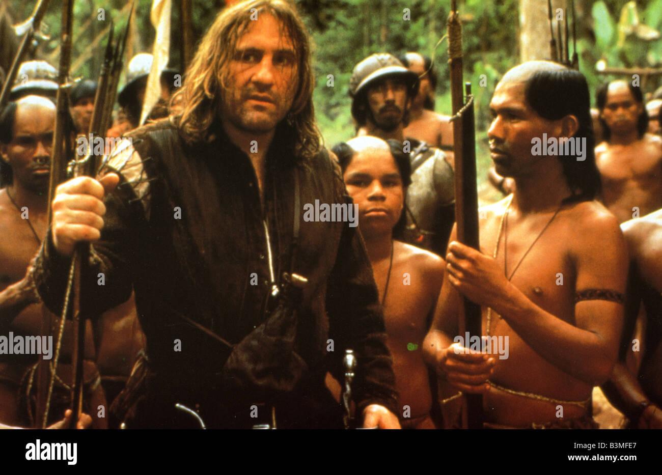 1492: LA CONQUÊTE DU PARADIS - 1992 film Gaumont avec Gérard Depardieu comme Columbus Banque D'Images
