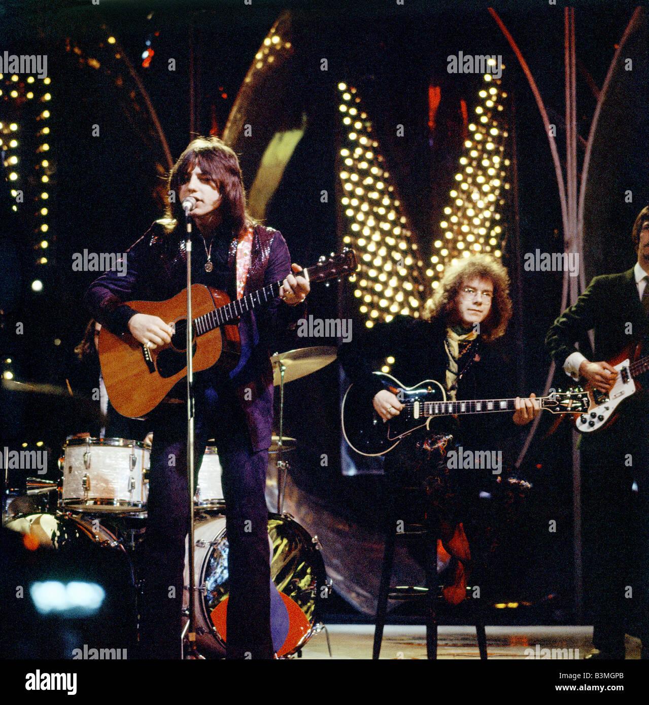KING CRIMSON - UK/US groupe pop en 1970 avec Greg Lake à gauche et Robert Fripp - photo Tony Gale Photo Stock