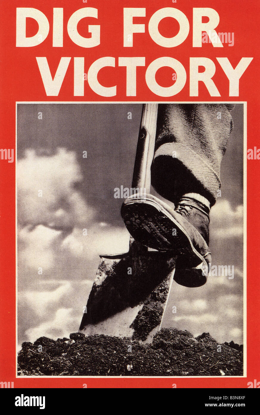 DIG FOR VICTORY WW2 UK poster Photo Stock