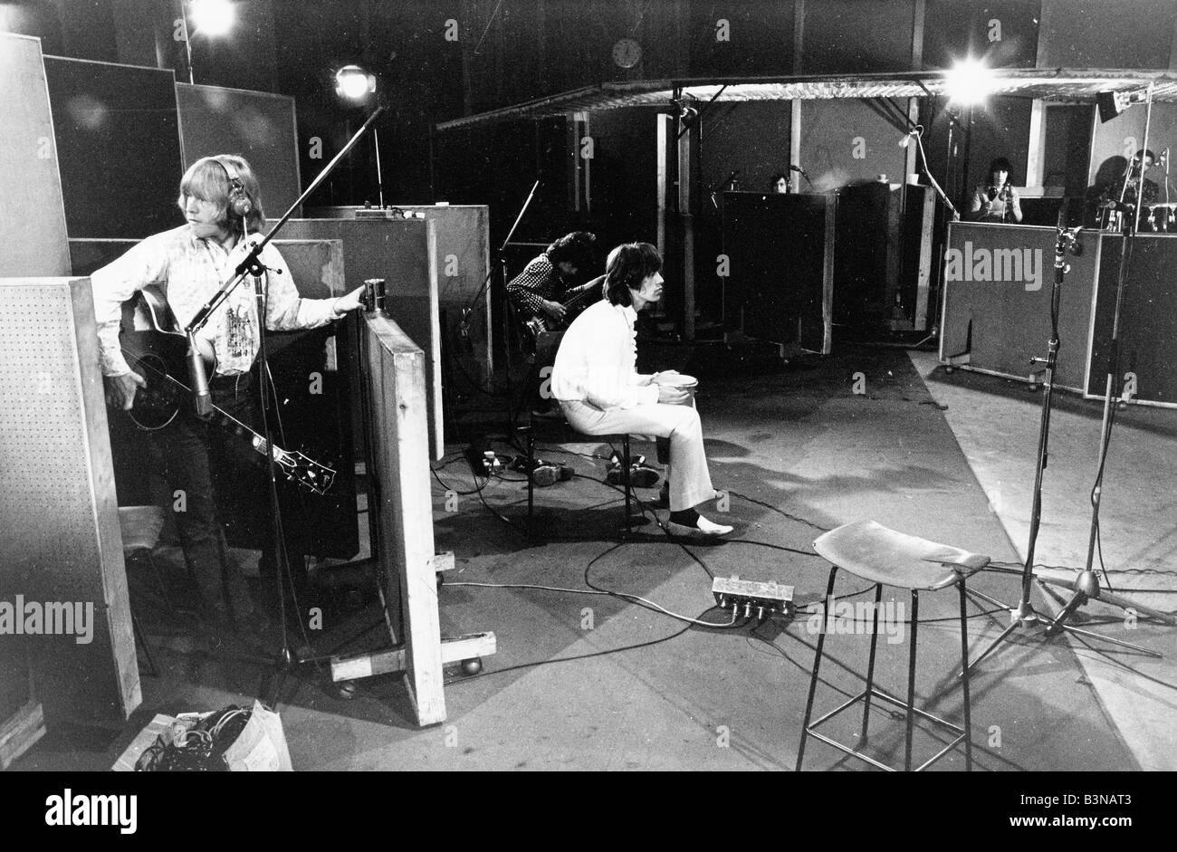 ROLLING STONES l'enregistrement de la bande originale du film One Plus One en juin 1968 Banque D'Images