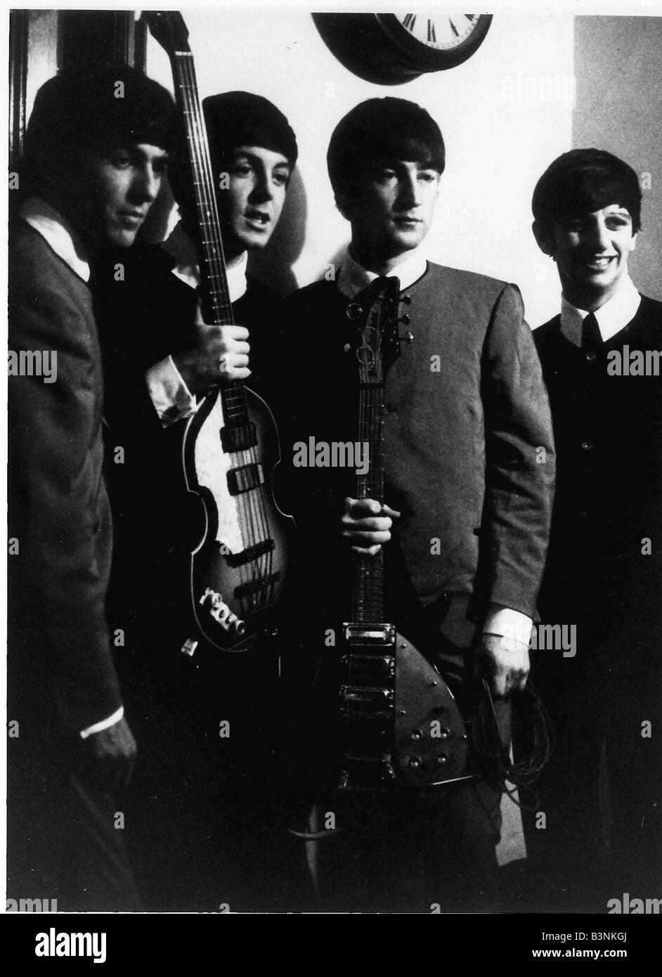 Les Beatles des années 60, groupe pop Juin 1964 Photo Stock