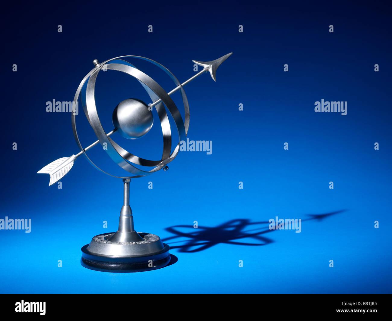 Sphères armillaires horizontale Globe Photo Stock