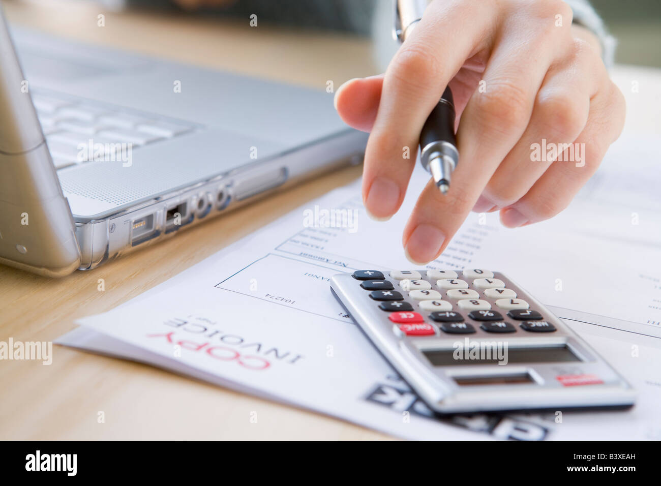 Le paiement des factures Photo Stock