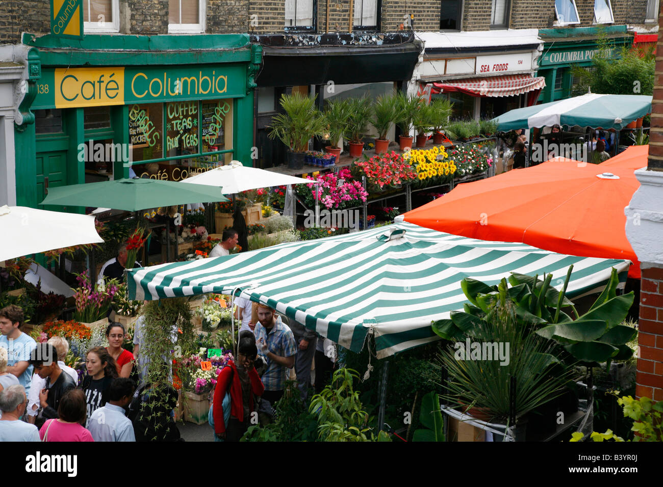 Columbia Road Flower Market, Bethnal Green, Londres Photo Stock