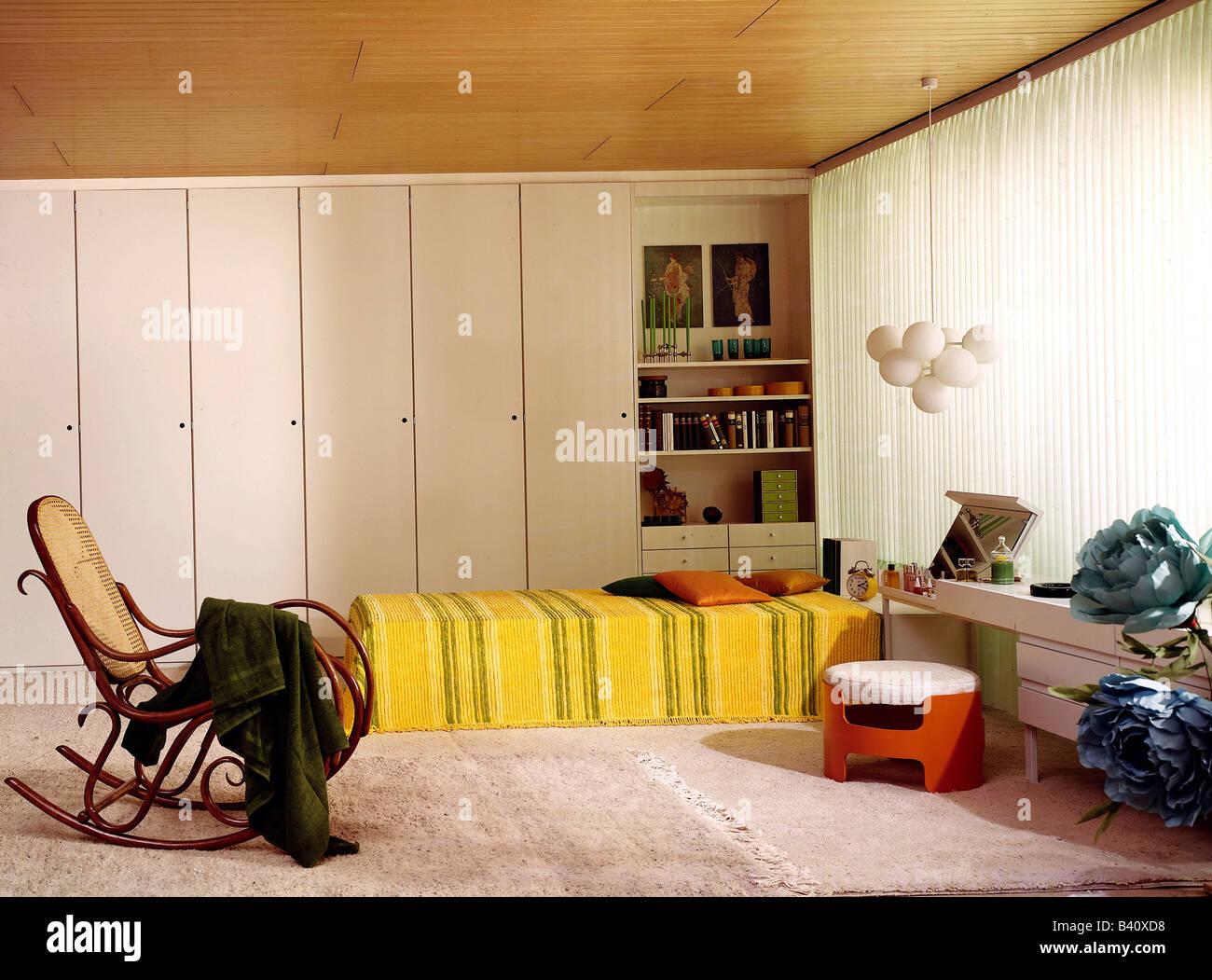 Chambre A Coucher Annees 70 ameublement, chambre à coucher, années 1970, années 70