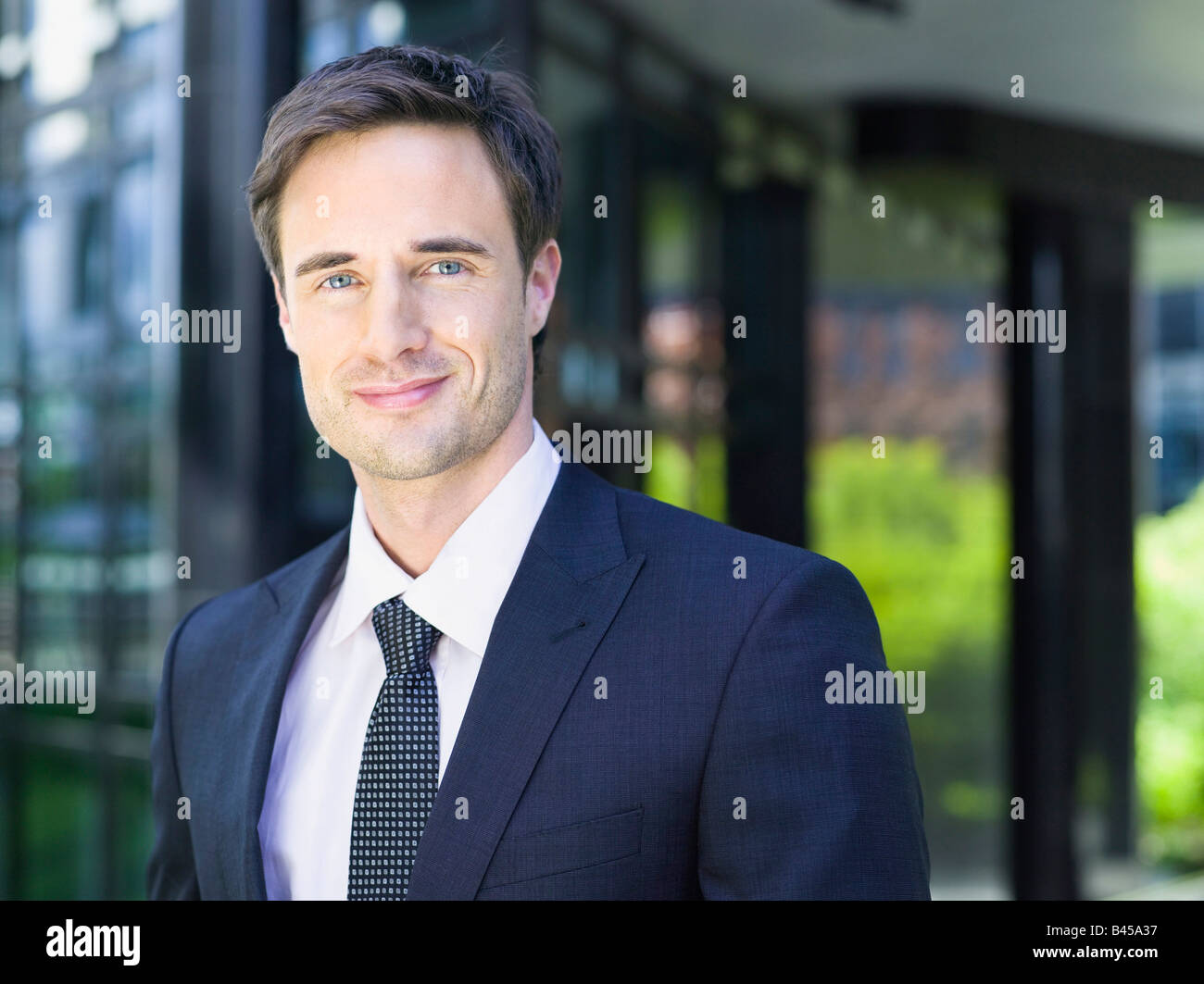 Allemagne, Baden-Württemberg, Stuttgart, businessman, portrait Photo Stock