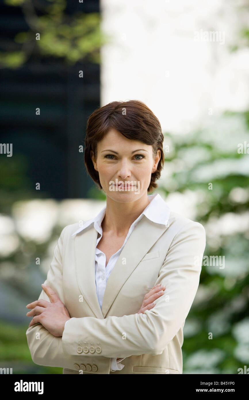 Allemagne, Baden Württemberg, Stuttgart, business woman, portrait Photo Stock