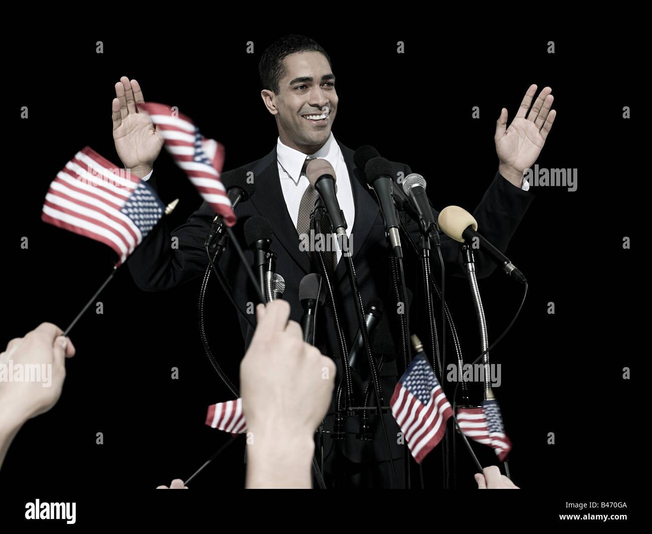 Homme politique et de supports Photo Stock