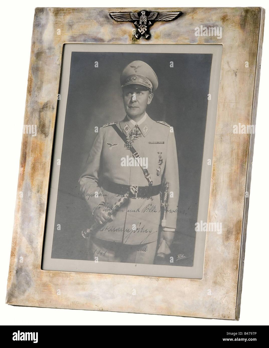 Hanna Reitsch - Hermann Göring., le dévouement de la photographie du Reichsmarschall 'Berlin 27.III.1941', Photo Stock