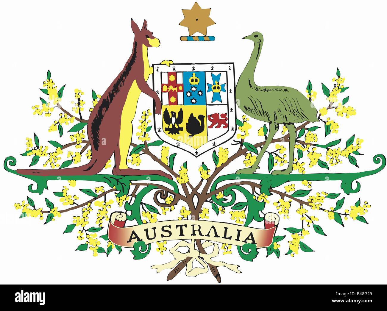 Héraldique, blason, l'Australie, , Additional-Rights Clearance-Info-Not-Available- Banque D'Images