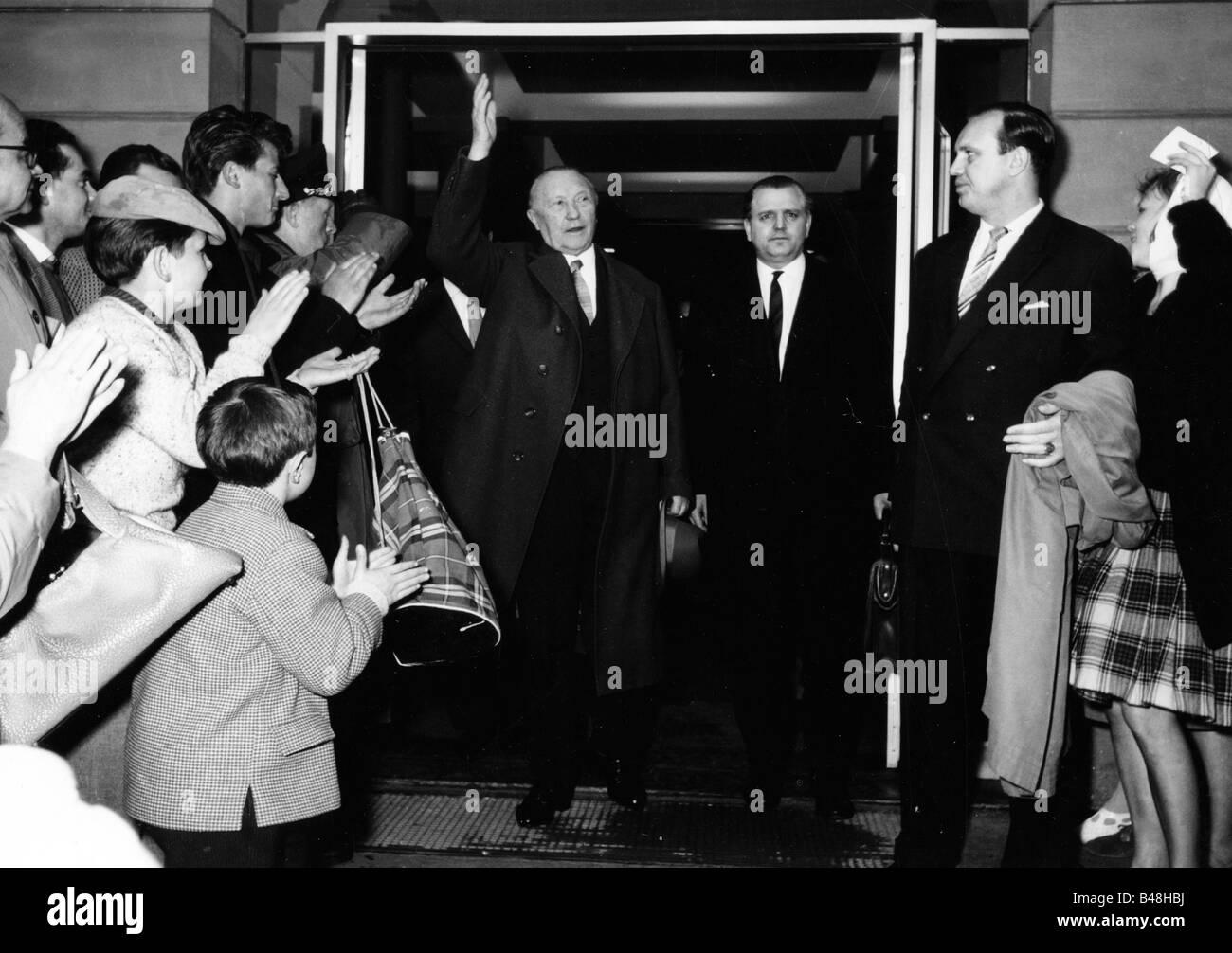 Adenauer, Konrad, 5.1.1876 - 19.4.1967, homme politique allemand (CDU) et homme d'État, chancelier de 1949 Photo Stock