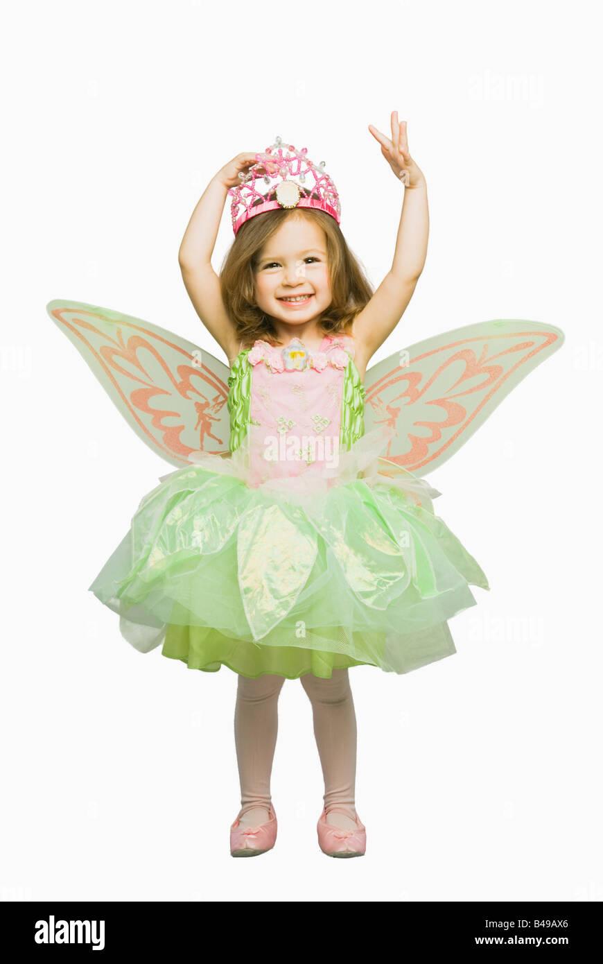 Girl in fairy costume Photo Stock