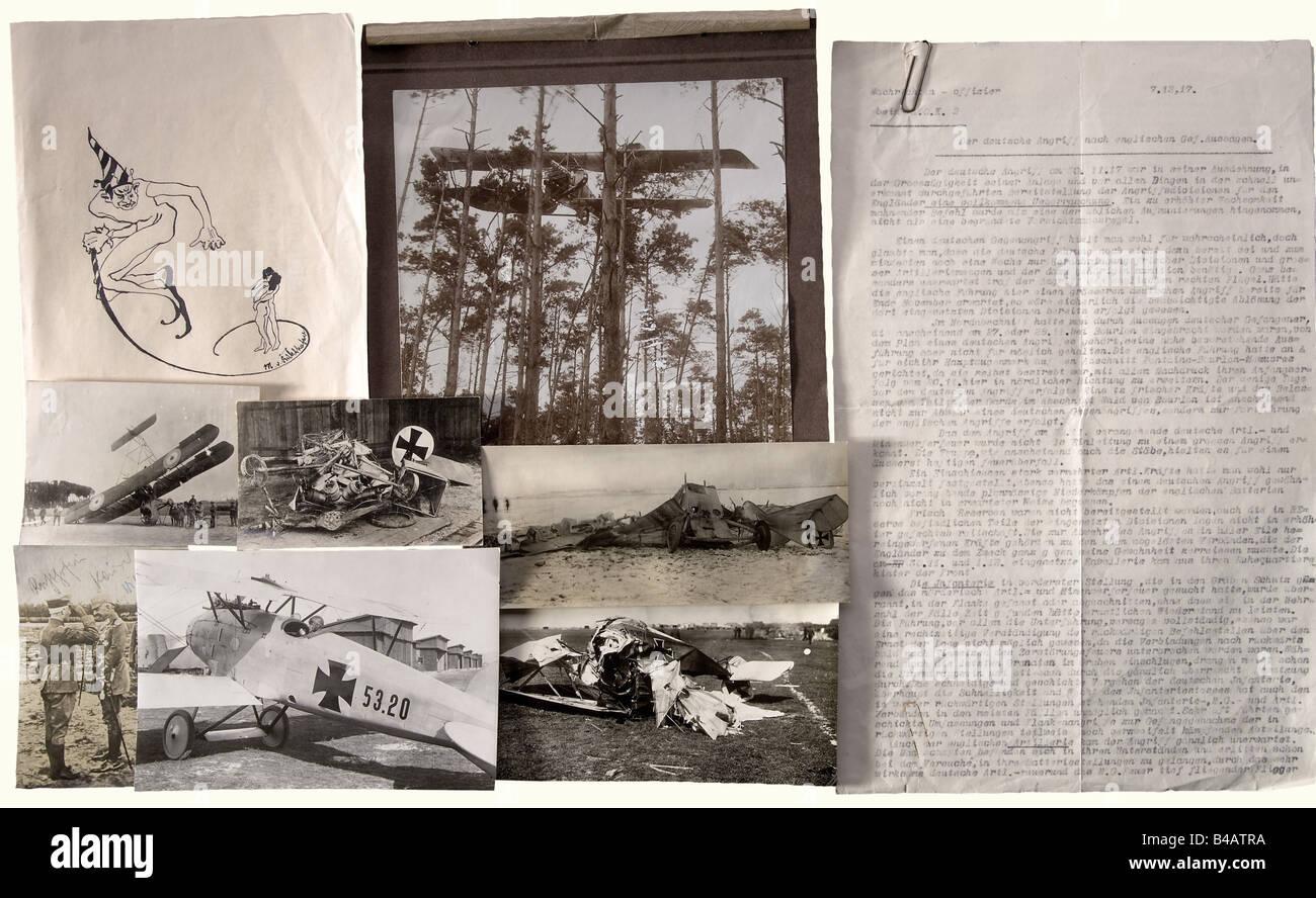 Le baron Manfred von Richthofen, le plus victorieux de pilote de chasse de la Première Guerre mondiale et Chevalier Photo Stock