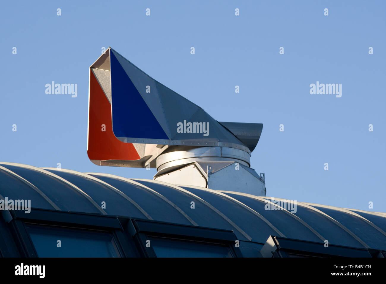 Tableau de bord du vent la ventilation à récupération de chaleur passive Port Jubilé près Photo Stock