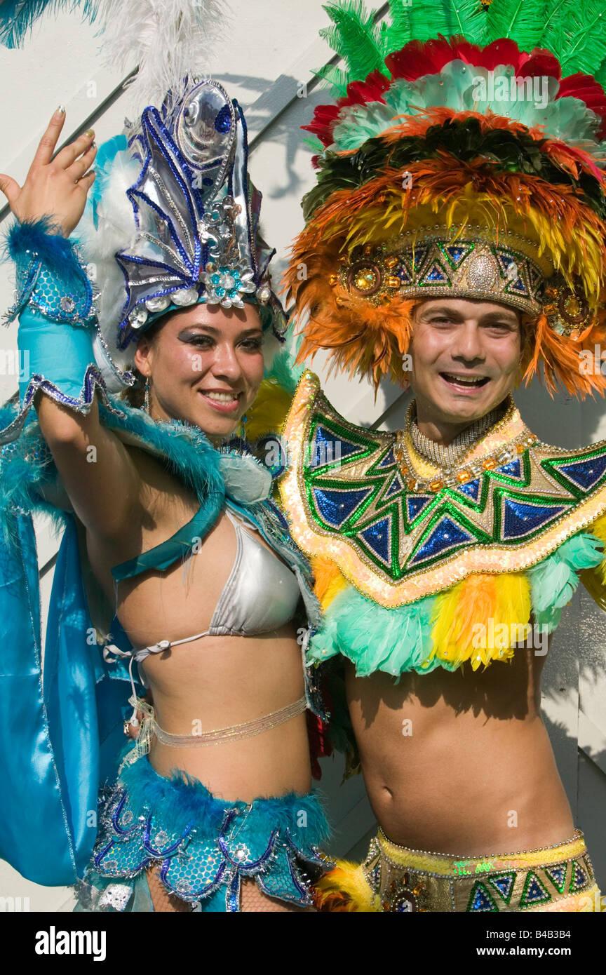L'école de samba Paraiso à Hackney, Londres Carnaval Photo Stock