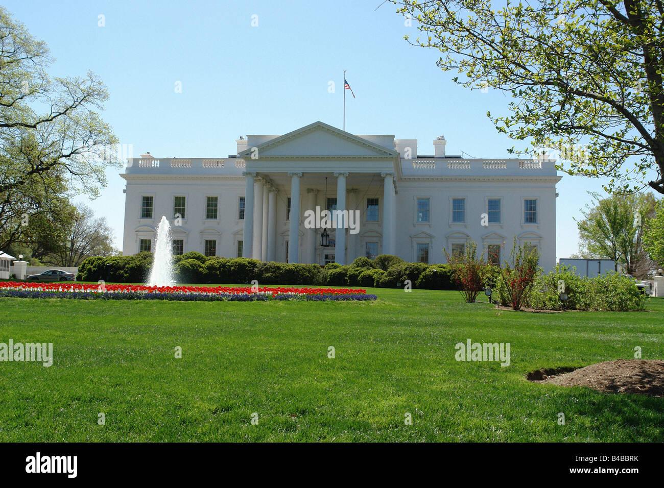La maison blanche résidence du président des états unis damérique à washington dc usa copy space