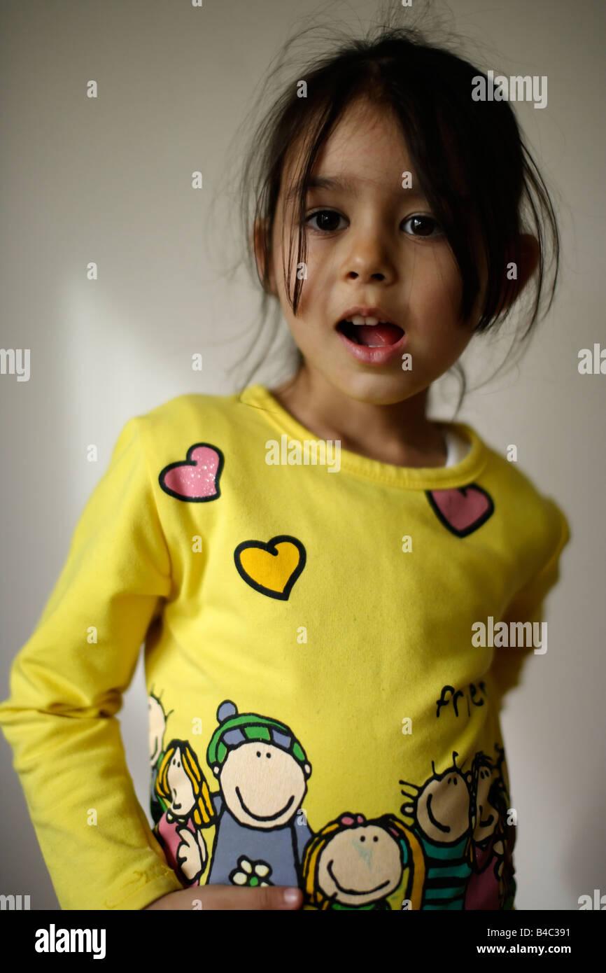 Petite fille de cinq ans Photo Stock