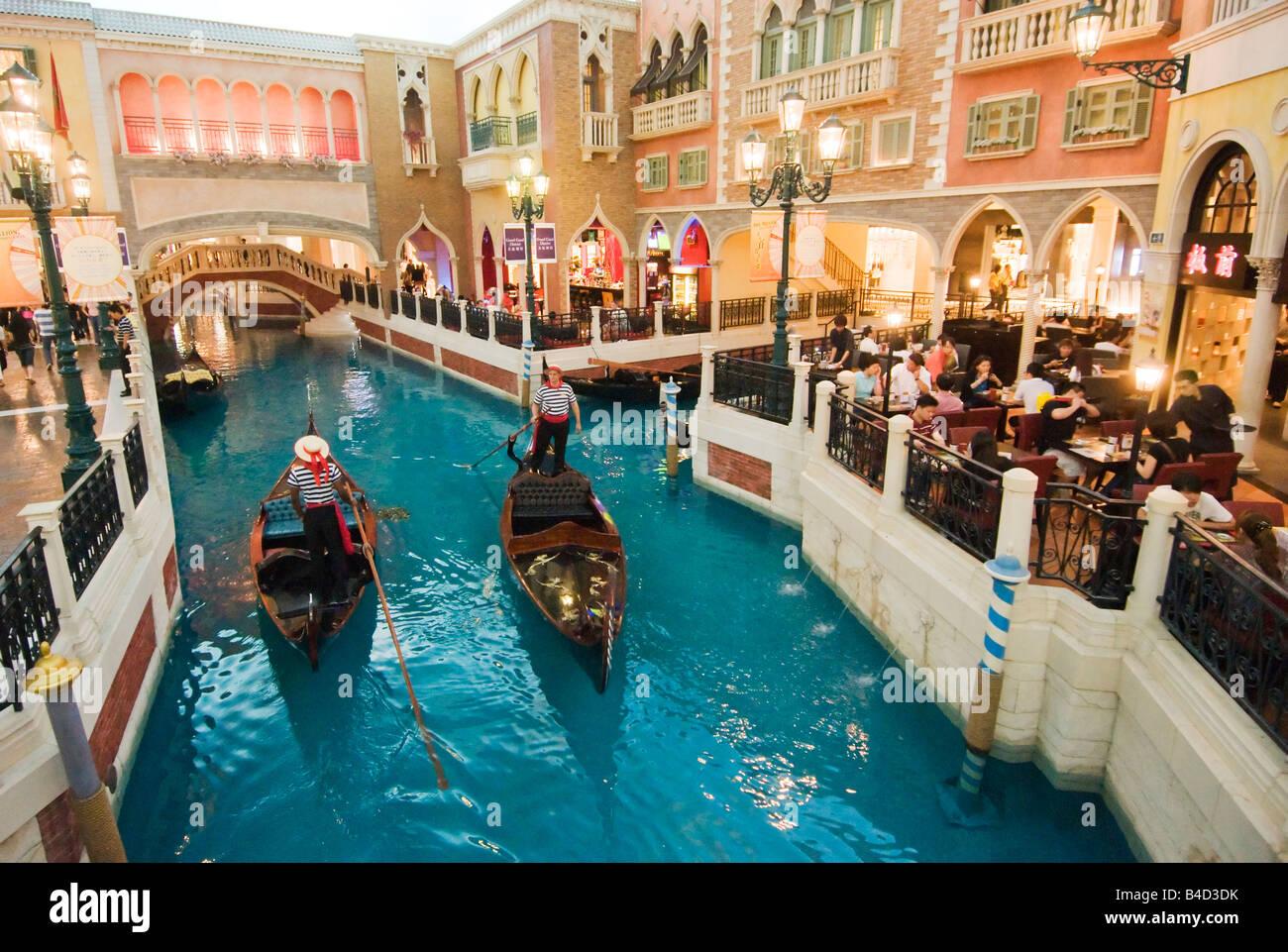 Intérieur de l'hôtel Venetian Macao Macao Casino et Photo Stock