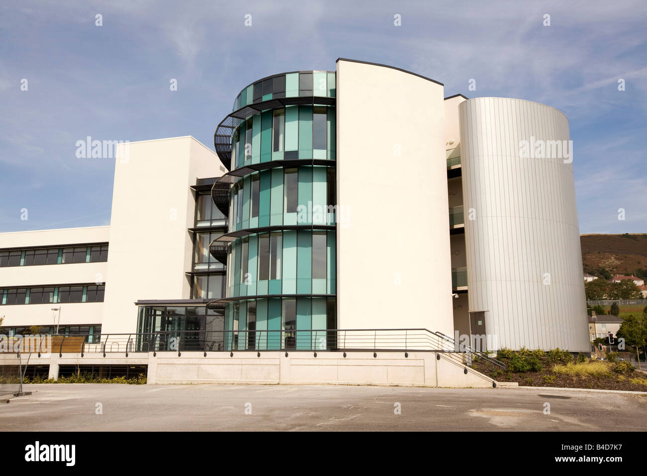 UK Wales Swansea SA1 waterfront development office building Ellipse Photo Stock