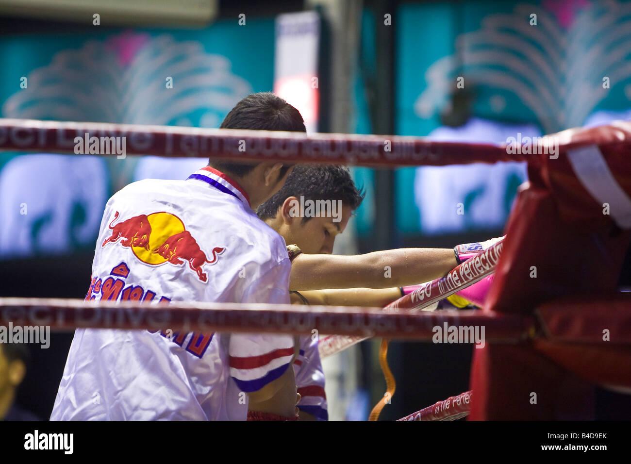 Thai Boxing Lumpinee Stadium Bangkok Thaïlande Banque D'Images