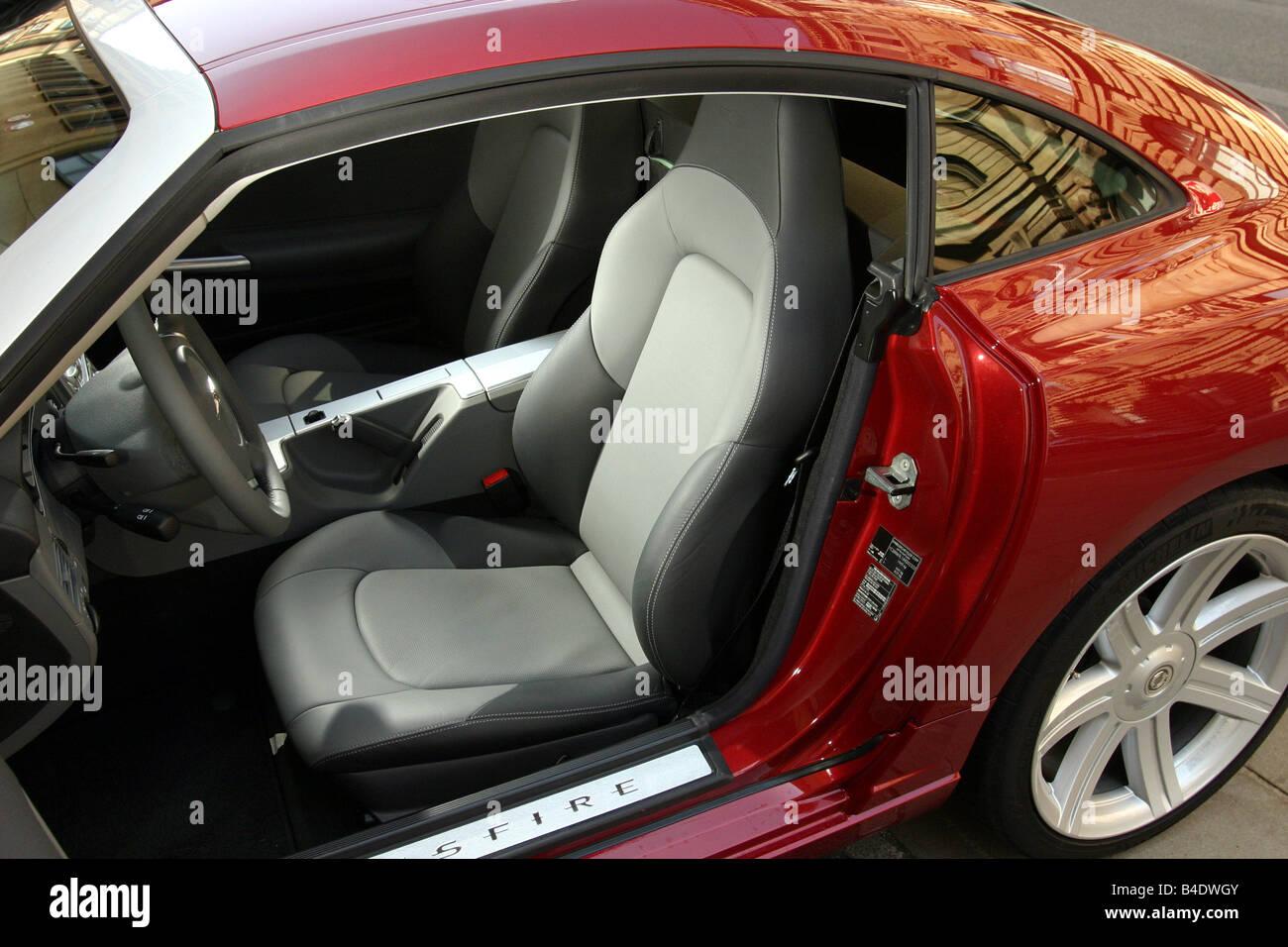 voiture chrysler crossfire roadster rouge anne modle 2003 coupcabriolet vue de lintrieur siges sige avant sige du conducteur techniq