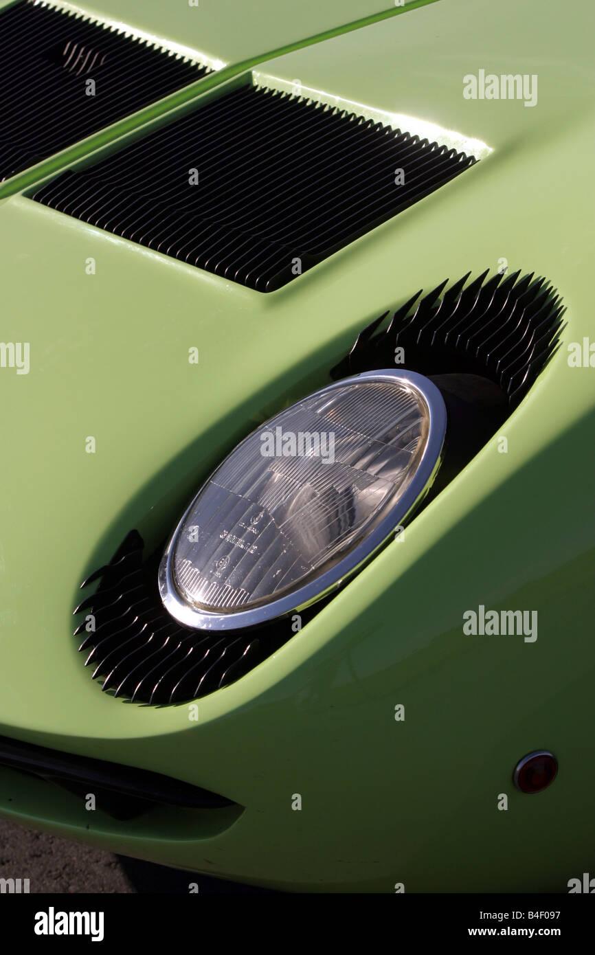 Voiture Lamborghini Miura P 400 S Vintage Car Vert Voiture De