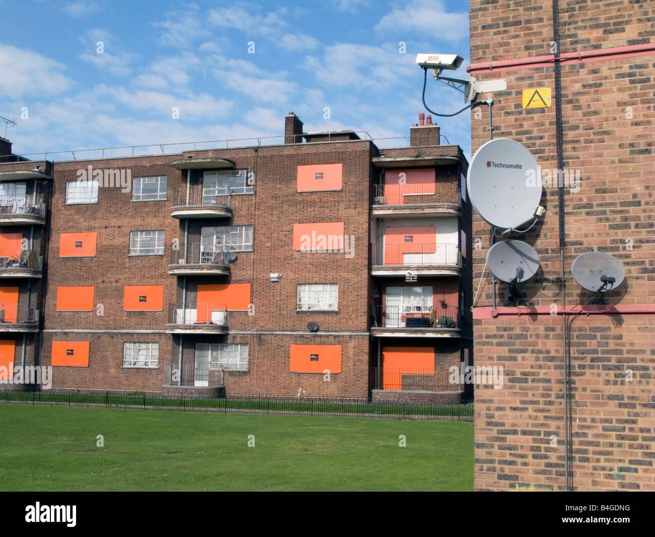 L'abandon du logement Royaume-uni abandonné conseil immobilier dans la région de Hackney à mettre Photo Stock