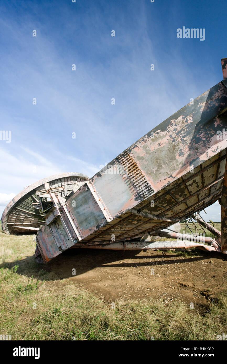Le Lincolnshire Wolds Stenigot système radar WW11 MOD Photo Stock