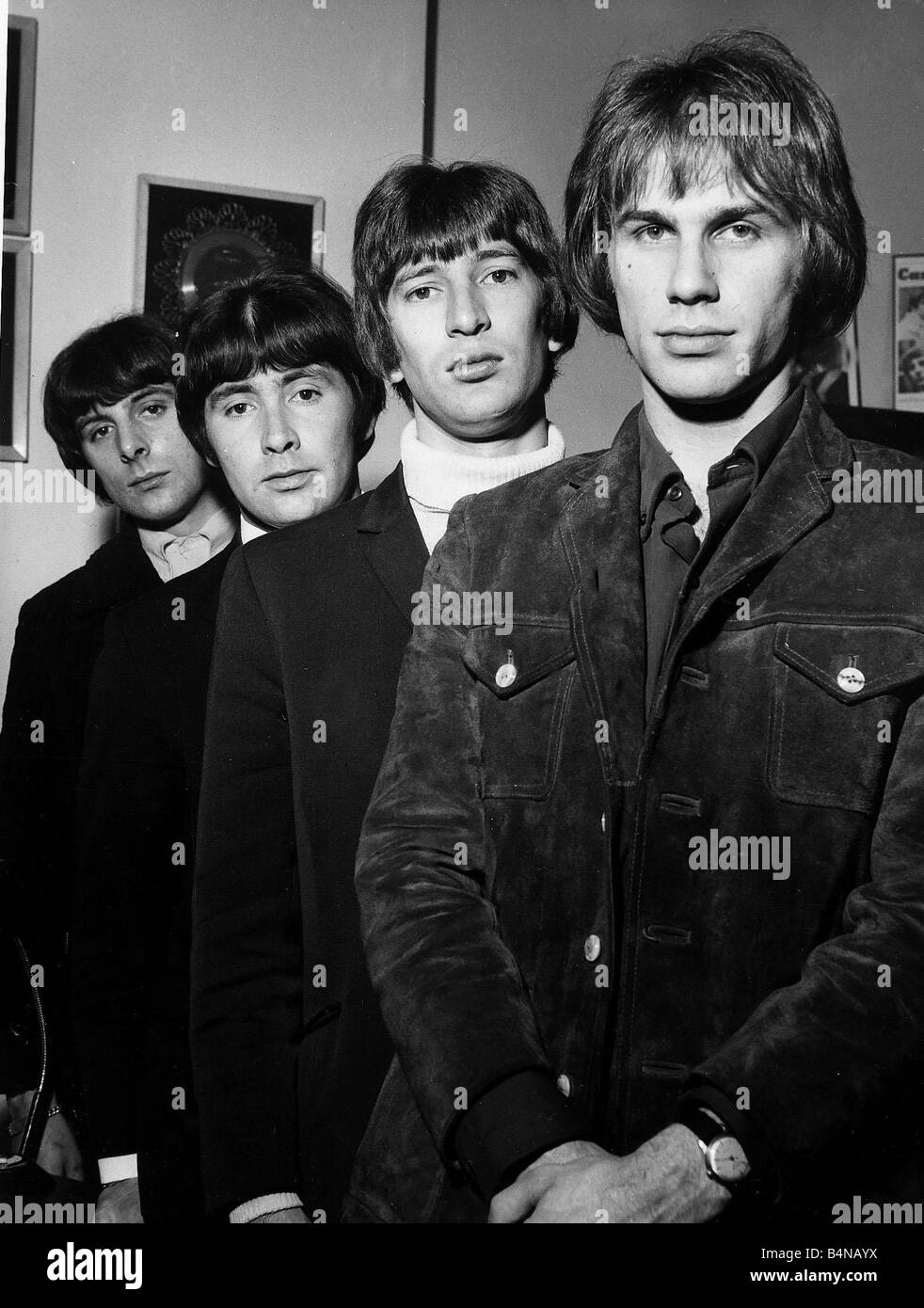 Le groupe Sixties pop britannique The Troggs dans Profil 1967 Photo Stock